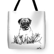 Baby Pug In Flowers Tote Bag