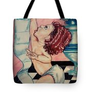 Baby Reaches Goals Tote Bag