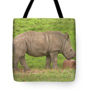 Baby Rhino Chilling Tote Bag
