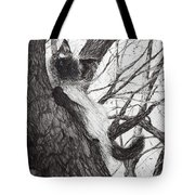 Baby Up The Apple Tree Tote Bag