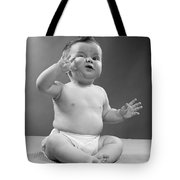 Baby With Odd Expression, 1950s Tote Bag