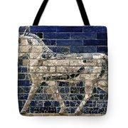 Babylon: Enamel Brick Bull Tote Bag