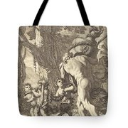 Bacchanal With Figures Carrying A Vase Tote Bag