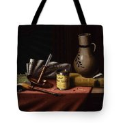 Bachelor S Table By William Michael Harnett Tote Bag