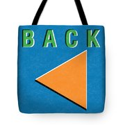 Back Button Tote Bag