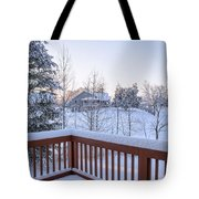 Morning Sun Winter Light Tote Bag by Claire Turner