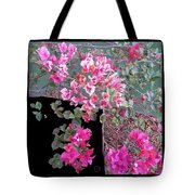Back Door Bougainvillea Tote Bag by Eikoni Images
