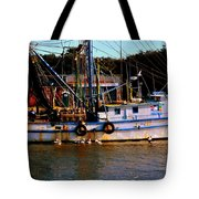 Back From A Long Day At Sea Tote Bag