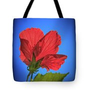 Back Lighting The Red Hibiscus  Tote Bag