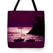 Back Lit Boats 2 Tote Bag