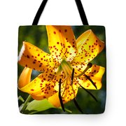 Back-lit Yellow Tiger Lily Tote Bag