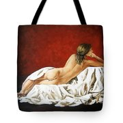 Back Nude Tote Bag
