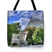 Back Porch In Summer Tote Bag