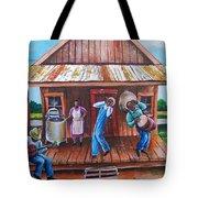 Back Porch Jamming Tote Bag