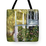 Back Porch Of Grove Plantation, Ace Basin Tote Bag