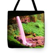 Back Side Of Silver Falls Tote Bag