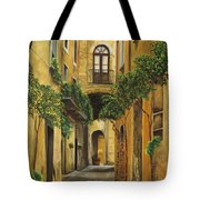 Back Street In Italy Tote Bag by Charlotte Blanchard