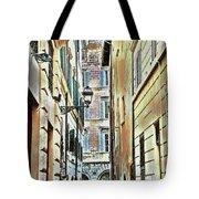 Back Street Lamp Tote Bag