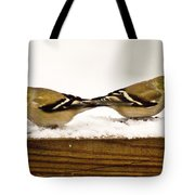 Back To Back American Gold Finches Tote Bag
