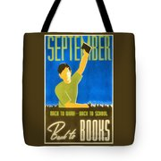 Back To Books Tote Bag