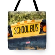 Back To School Bus Watercolor Tote Bag