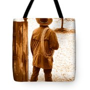 Back To Work - Sepia Tote Bag
