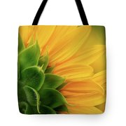 Back View Of Sunflower Tote Bag