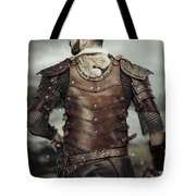 Back View Of Viking Costume Tote Bag