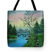 Back Woods Bridge Tote Bag