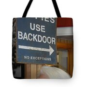 Backdoor Tote Bag