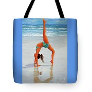 Backflip At The Beach Tote Bag