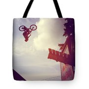 Backflip Descent Tote Bag