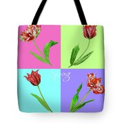 Background With Tulips Tote Bag