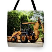 Backhoe And Loader 12118 Tote Bag
