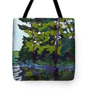 Backlit Pines Tote Bag
