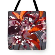 Backlit Pink Tree Blossoms Tote Bag