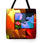 Backlit Roses Tote Bag
