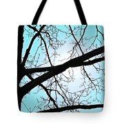 Backlit Tree Tote Bag