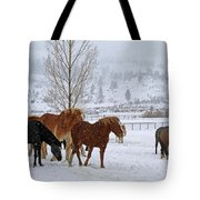 Backs To The Wind Tote Bag