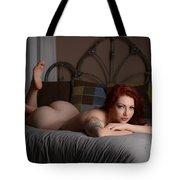 Backside Bed Tote Bag