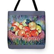 Backyard Apples Tote Bag