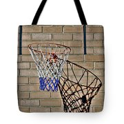Backyard Basketball Tote Bag