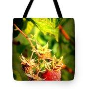 Backyard Garden Series - One Ripe Raspberry Tote Bag