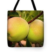 Backyard Garden Series - Two Apples Tote Bag