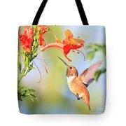 Backyard Hummingbird Series # 54 Tote Bag