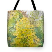 Backyard Tote Bag by Leah  Tomaino