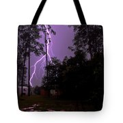 Backyard Lightning Tote Bag