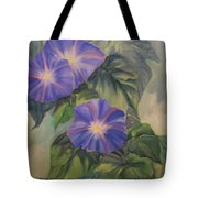 Backyard Morning Glories Tote Bag