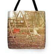 Backyard Play Tote Bag