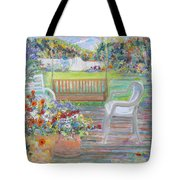 Backyard Porch Tote Bag
